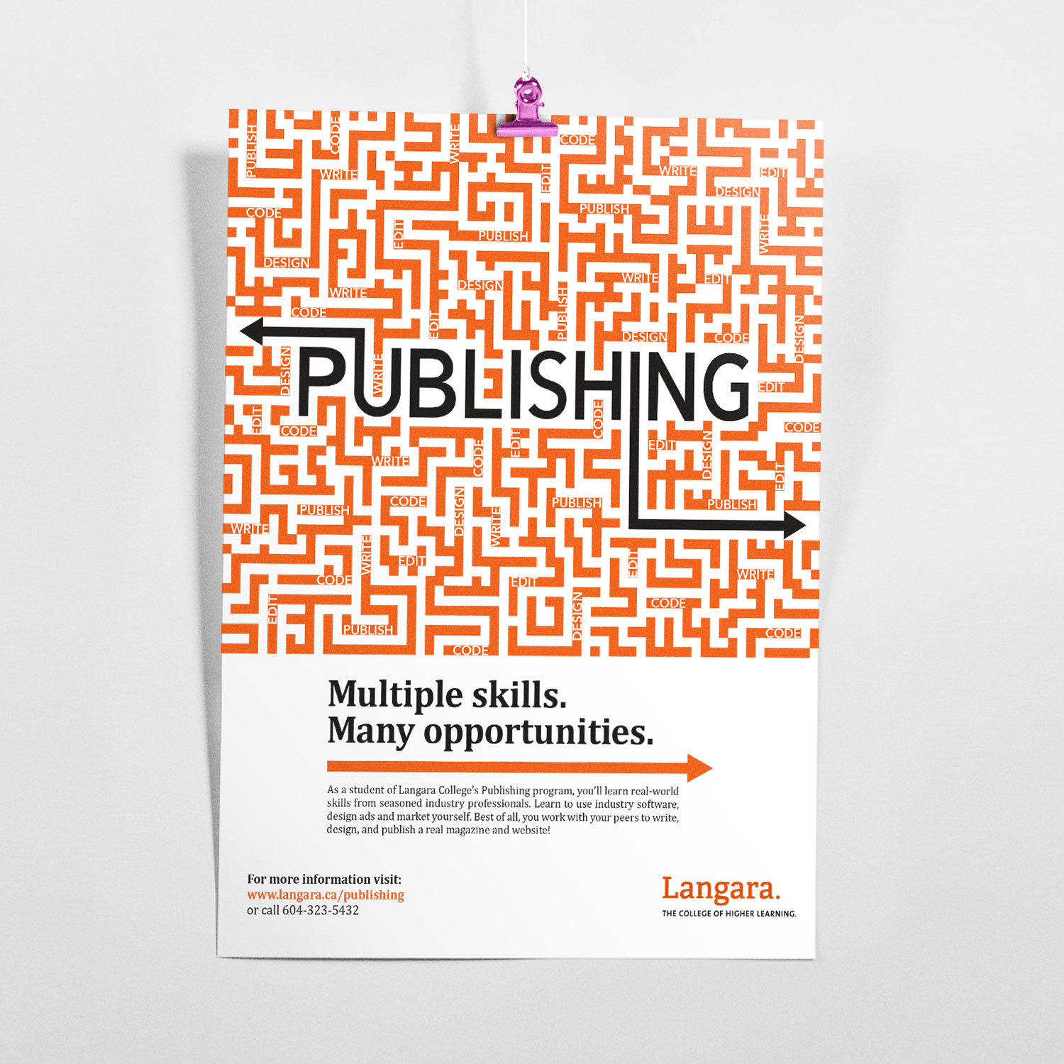 Langara College Publishing Program Poster