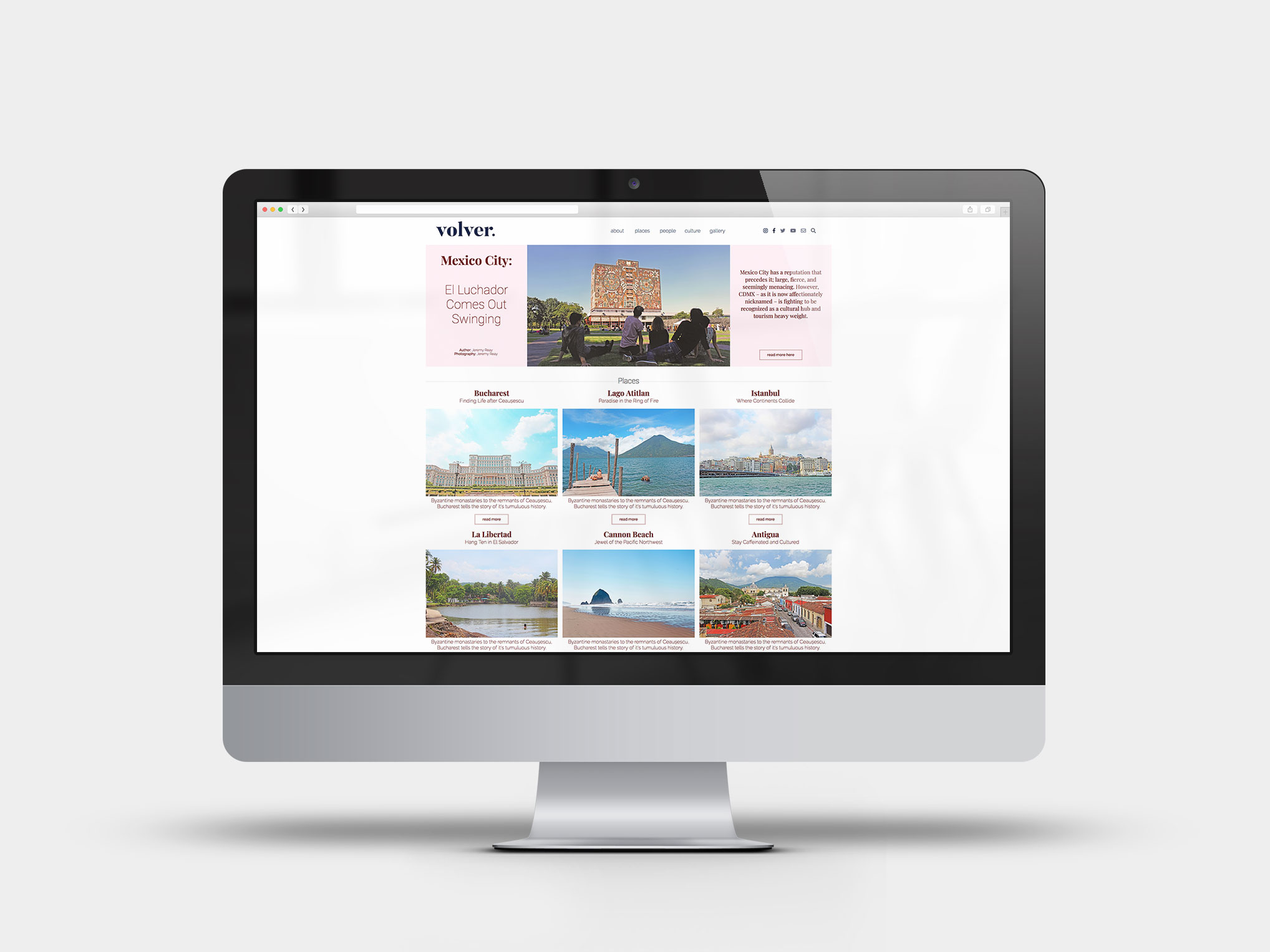 Volver Travel and Leisure Website